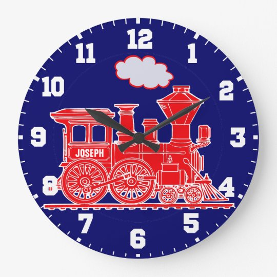 Fun kids name train red and navy blue
