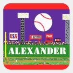 Fun Kids Sport Personalised Baseball Stickers Gift