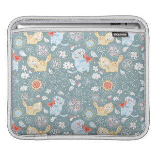 Fun Kitty Cat Pattern iPad Sleeve