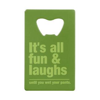 FUN & LAUGHS custom bottle opener