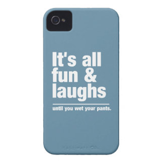 FUN & LAUGHS custom color Blackberry case
