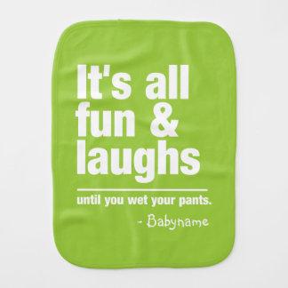 FUN & LAUGHS custom color burp cloth