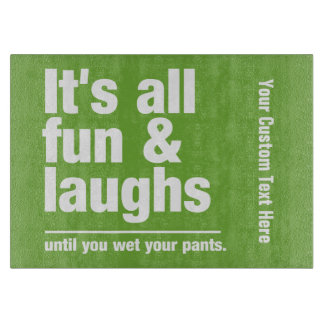 FUN & LAUGHS custom color cutting boards