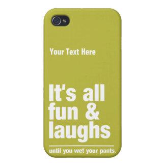 FUN & LAUGHS custom color iPhone cases iPhone 4 Case