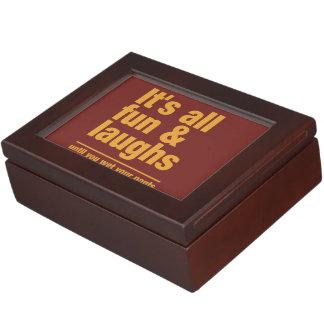 FUN & LAUGHS custom color keepsake box