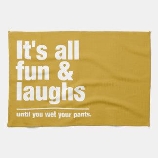 FUN & LAUGHS custom color kitchen towel
