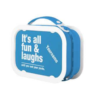 FUN & LAUGHS custom color lunch boxes