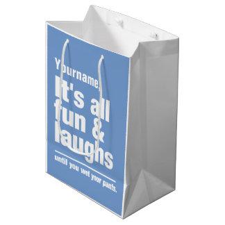 FUN & LAUGHS custom color & name gift bags