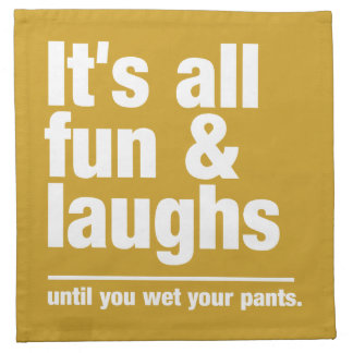 FUN & LAUGHS custom color napkins