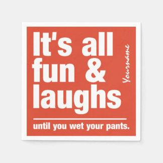 FUN & LAUGHS custom color paper napkins Paper Napkin