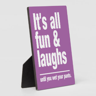 FUN & LAUGHS custom color plaques