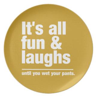FUN & LAUGHS custom color plate