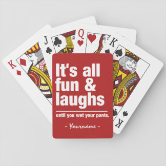 FUN & LAUGHS custom color playing cards