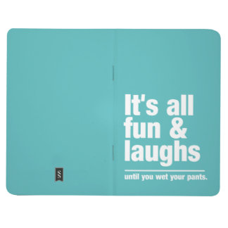 FUN & LAUGHS custom color pocket journal