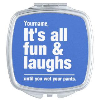 FUN & LAUGHS custom color pocket mirror Compact Mirrors