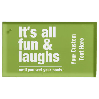 FUN & LAUGHS custom color table card holder
