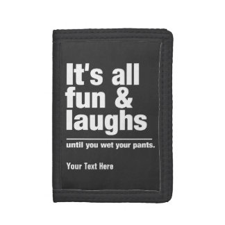FUN & LAUGHS custom color wallets