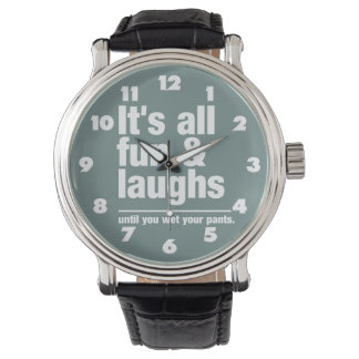 FUN & LAUGHS custom color watches