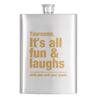 FUN & LAUGHS custom flask
