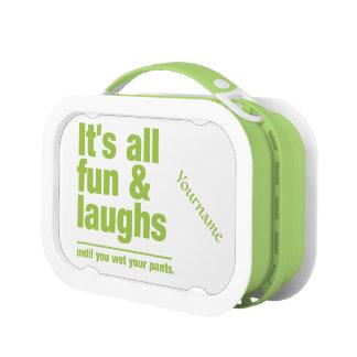 FUN & LAUGHS custom lunch box
