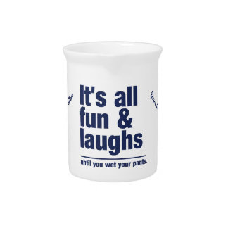 FUN & LAUGHS custom pitcher