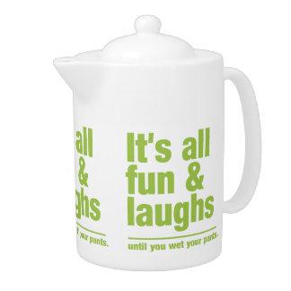 FUN & LAUGHS teapot