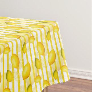 Fun lemon fruit stripe pattern tablecloth