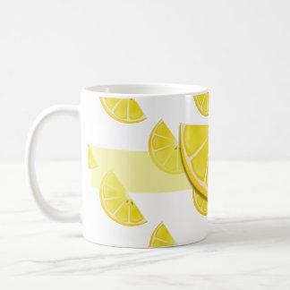 Fun lemon mug art