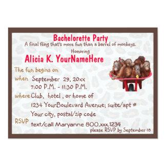 Fun Leopard Print Bachelorette Party 17 Cm X 22 Cm Invitation Card