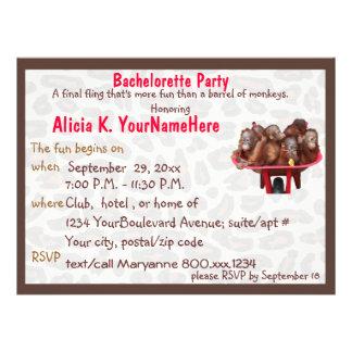 Fun Leopard Print Bachelorette Party Invite