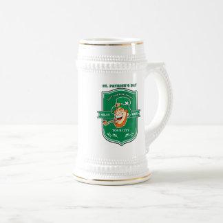 Fun Leprechaun Badge Design St. Patrick's Day Mugs
