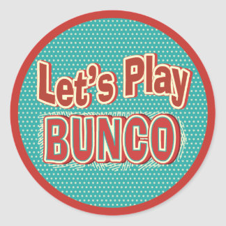Fun Let's Play Bunco Stickers