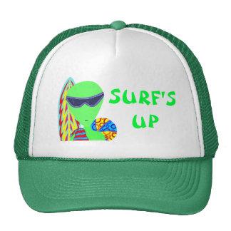 Fun LGM Alien Vacation Geek Surf's Up Cap Mesh Hats