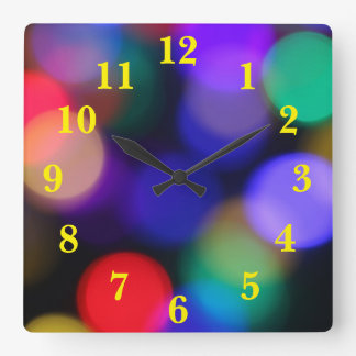 Fun Lights Red Green Violet Clock
