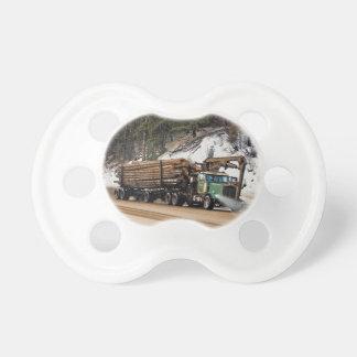 Fun Log In - Log Out Logging Trucker Art Design Pacifier