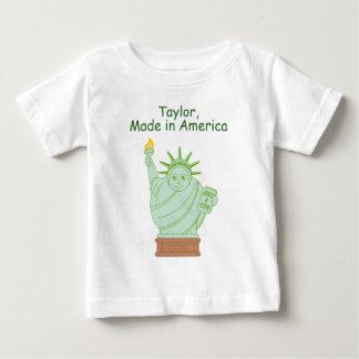"Fun ""Made in America"" cartoon ""Statue of Liberty"", Baby T-Shirt"