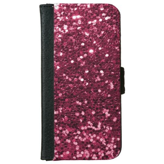 Fun Magenta Pink Faux Glitter Sparkle Print iPhone