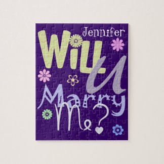 Fun Marriage Proposal Puzzle