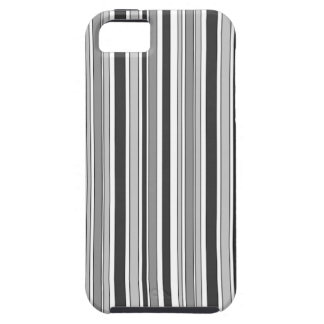 Fun Masculine Stripes Pattern in Monochrome Case For The iPhone 5