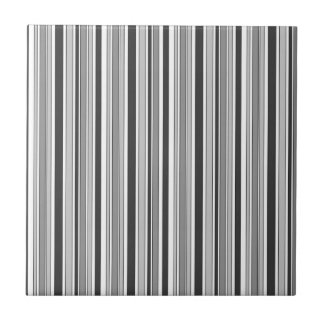 Fun Masculine Stripes Pattern in Monochrome Tile