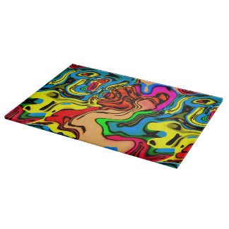 Fun Melting Colors Design Cutting Board