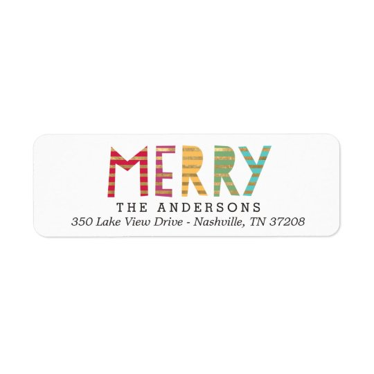 Fun Merry Holiday Return Address Labels