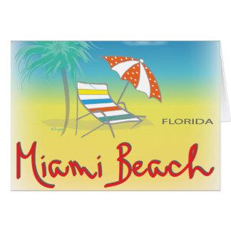 Fun Miami Beach, FL Fun Cool Card