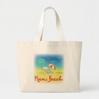 Fun Miami Beach, FL Large Tote Bag