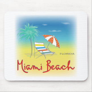 Fun Miami Beach, FL Mouse Mat