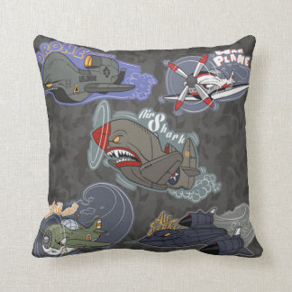 Fun Military Planes Cushion