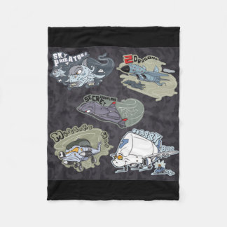 Fun Military Planes Fleece Blanket