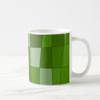 Fun Mirror Checks in Green Mugs