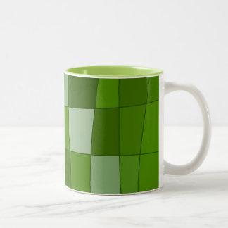 Fun Mirror Checks in Green Coffee Mug