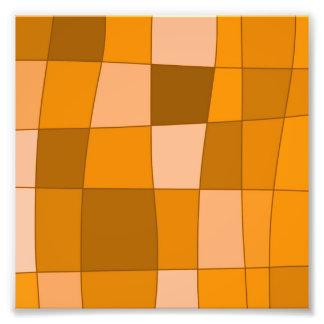Fun Mirror Checks in Orange Photo